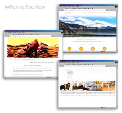 Webseiten Internetseiten Beispiele